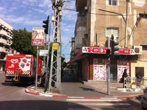 "The streets of Tel Aviv, described by several as their ""Fifth Avenue"""