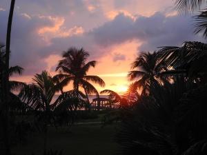 Sunset on Nevis