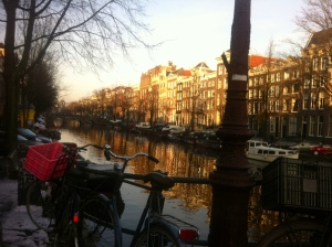 In love with Amsterdam, it's canals, Indonesian food and charm