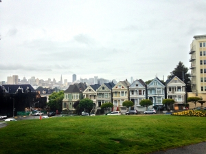 The Painted Ladies, behind AJ and Renea's old house
